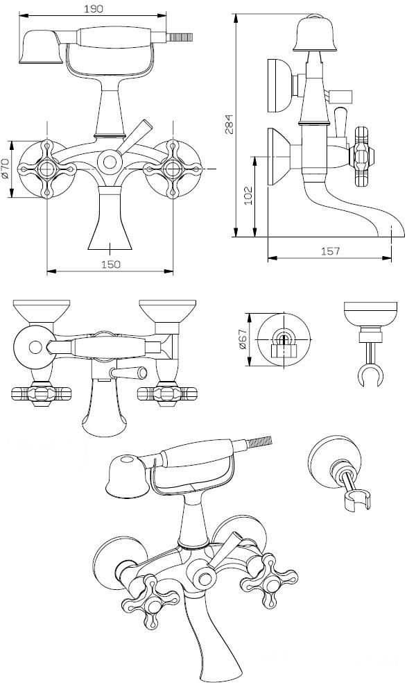 Схема смесителя для раковины