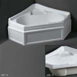 Ванны Simas серия VAT14 Simas Vasche da bagno VAT14 Ванна угловая с панелью 140x140 см