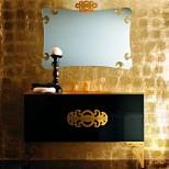 Мебель для ванных комнат Eurolegno серия Glamour Eurolegno Glamour Композиция №5 Комплект мебели 120 см, цвет: глянцевый чёрный