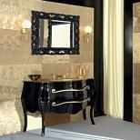 Мебель для ванных комнат Eurolegno серия Narciso Eurolegno Narciso Композиция №9 Комплект мебели 132 см, цвет: глянцевый чёрный