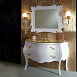 Мебель для ванных комнат Eurolegno серия Narciso Eurolegno Narciso Композиция №12 Комплект мебели 132 см, цвет: глянцевый белый