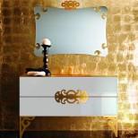 Мебель для ванных комнат Eurolegno серия Glamour Eurolegno Glamour Композиция №5 Комплект мебели 120 см, цвет: глянцевый белый