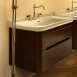 Мебель для ванных комнат Kerasan серия Waldorf Kerasan Waldorf База подвесная под раковину 80см, цвет темный орех
