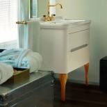Мебель для ванных комнат Kerasan серия Waldorf Kerasan Waldorf База подвесная под раковину 80см, цвет матовый белый/золото