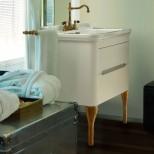 Мебель для ванных комнат Kerasan серия Waldorf Kerasan Waldorf База подвесная под раковину 80см, цвет матовый белый/бронза
