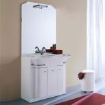 Мебель для ванных комнат Eurolegno серия Hollywood Eurolegno Hollywood Композиция 51 Комплект мебели 84 см, цвет: глянцевый белый