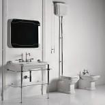 Санфаянс Kerasan серия Waldorf Унитаз приставной с высоким бачком Kerasan Waldorf, хром