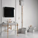 Санфаянс Kerasan серия Waldorf Унитаз приставной с высоким бачком Kerasan Waldorf, золото