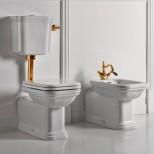 Санфаянс Kerasan серия Waldorf Унитаз приставной со средним бачком Kerasan Waldorf, золото
