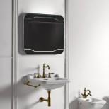 Санфаянс Kerasan серия Waldorf Раковина подвесная Kerasan Waldorf 60см с полотенцедержателем, бронза