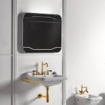 Санфаянс Kerasan серия Waldorf Раковина подвесная Kerasan Waldorf 60см с полотенцедержателем, золото