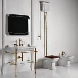 Санфаянс Kerasan серия Waldorf Унитаз приставной с высоким бачком Kerasan Waldorf, бронза